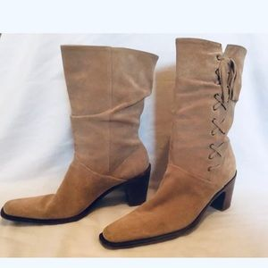 Hokus Pokus Shoes - Hokus Pokus Mid Calf Boots Suede Leather